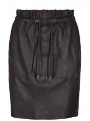 Mos Mosh - Ellie Leather Skirt - Coffee Bean