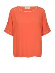 Mos Mosh - Palma Contrast Blouse - Mandarin Red