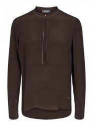 Mos Mosh - Sharon Silk Blouse - Coffee Bean