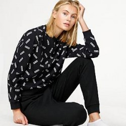 Moschino Underwear Trøje - All Over Tags Sweatshirt