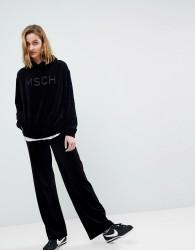 Moss Copenhagen Luxe Joggers In Velour Co-Ord - Black