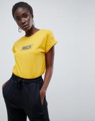 Moss Copenhagen relaxed t-shirt with logo front - Yellow