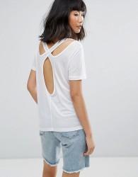 Moss Copenhagen T-Shirt With Cut Out Back - White