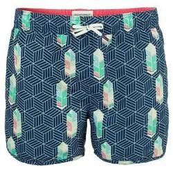 Muchachomalo Swim Free Lika A Bird Boardshort - Blue Pattern - X-Large