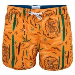 Muchachomalo Swim Tiger Wood Boardshort - Orange patterned * Kampagne *