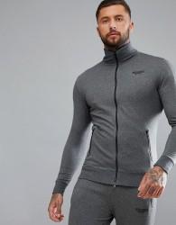 Muscle Monkey Track Jacket In Grey - Grey