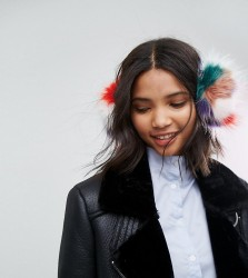 My Accessories Multicoloured Faux Fur Ear Muffs - Multi