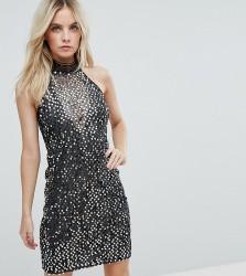 NaaNaa Petite High Neck Sequin Mini Dress - Multi