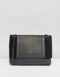 Nali Double Chain Strap Across Body Bag - Grey