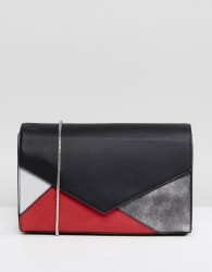 Nali Patchwork Shoulder Bag - Red