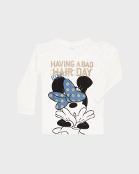 Name it lagærmet Minnie Sofia T-shirt