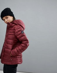Napapijri Aerons Hooded Jacket In Burgundy - Red