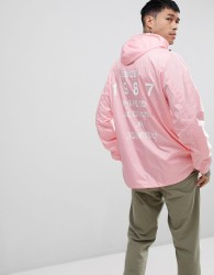Napapijri Aumo Jacket With Back Print In Light Pink - Pink