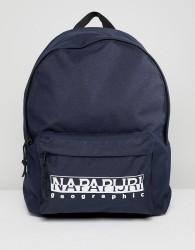 Napapijri Hala Logo Backpack With Taping In Navy TRIBE PACK - Navy