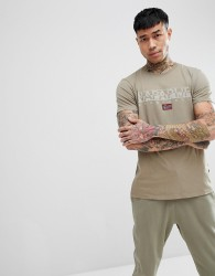Napapijri Sapriol T-Shirt In Khaki - Green