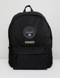 Napapijri Voyage Logo Backpack In Black - Black