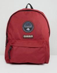 Napapijri Voyage Logo Backpack In Burgundy - Red