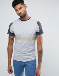 Native Youth Colour Block T-Shirt - Grey