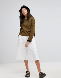 Native Youth Denim Culottes - White