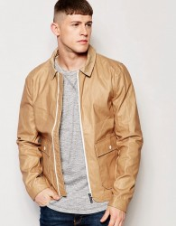 Native Youth Dry Wax Coach Jacket - Tan