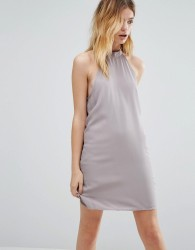 Native Youth High Neck Swing Dress - Grey