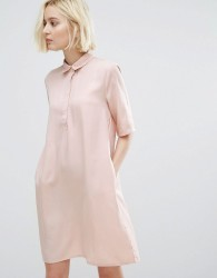 Native Youth Minimal Shirt Dress - Pink