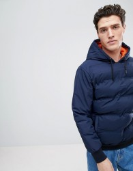 Native Youth Padded Hooded Jacket - Navy