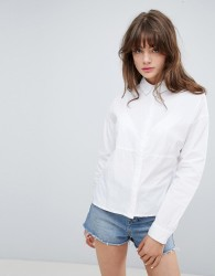 Native Youth Panelled Side Split Shirt - White