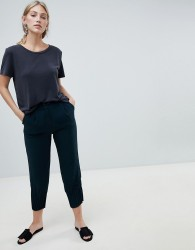 Native Youth peg trousers with gathered hem detail - Green