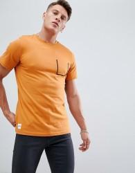 Native Youth stitch pocket t-shirt - Orange