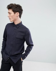Native Youth Straight Hem Shirt - Navy