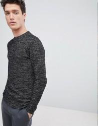 Native Youth Textured Sweatshirt - Black