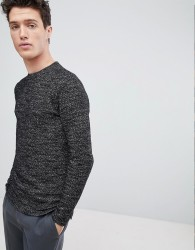 Native Youth Textured Sweatshirt - Black
