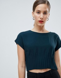 Native Youth top with gathered waist - Green