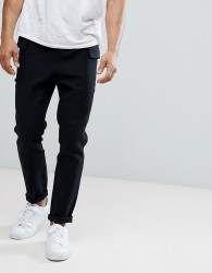 Native Youth Twill Cargo Pocket Trousers - Black