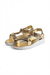 Nature - Sko - Alma Metallic Leather - Gold