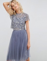 Needle and Thread Scattered Embellished Top - Blue