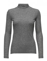 Needle Rib L/S Rollneck Top