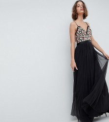 Needle & Thread Cami Maxi Dress With Embellished Detail - Grey