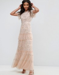 Needle & Thread Constellation Lace Gown - Pink