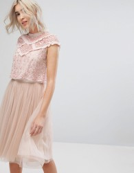 Needle & Thread Daisy Shimmer Top - Pink