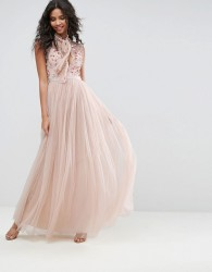 Needle & Thread Ditsy Bodice Gown - Pink