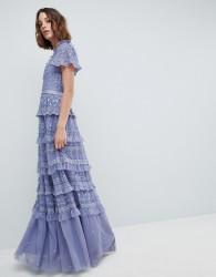 Needle & Thread High Neck Layered Maxi Dress - Purple