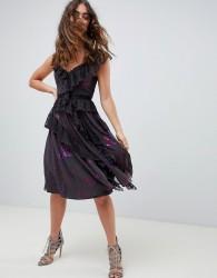 Needle & Thread lace frill midi dress in multi - Multi