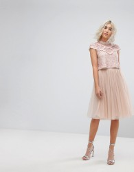 Needle & Thread Midi Tulle Skirt - Pink