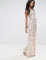 Needle & Thread Posy Embroidered Gown - Pink