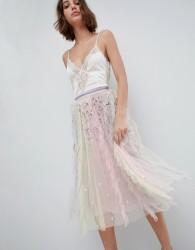 Needle & Thread Rainow Midi Skirt With Embellishment - Multi