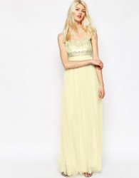 Needle & Thread Strappy Backless Tulle Embellished Maxi Dress - Pink