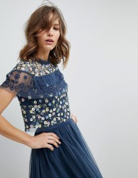 Needle & Thread Tiered Anglais Top - Blue