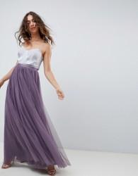 Needle & Thread tulle maxi skirt in purple - Purple